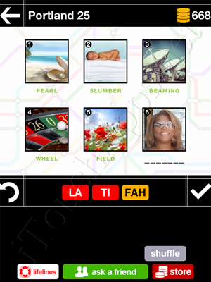 Pics & Pieces Portland Pack Level 25 Answer