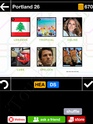 Pics & Pieces Portland Pack Level 26 Answer