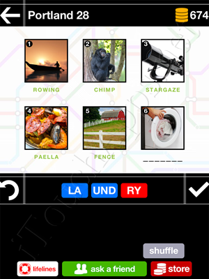 Pics & Pieces Portland Pack Level 28 Answer