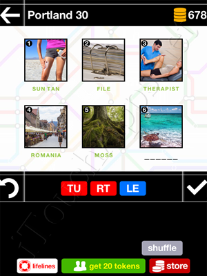 Pics & Pieces Portland Pack Level 30 Answer