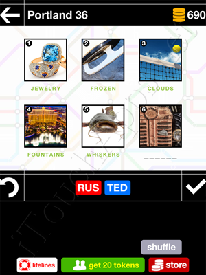 Pics & Pieces Portland Pack Level 36 Answer