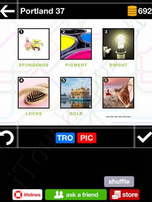Pics & Pieces Portland Pack Level 37 Answer
