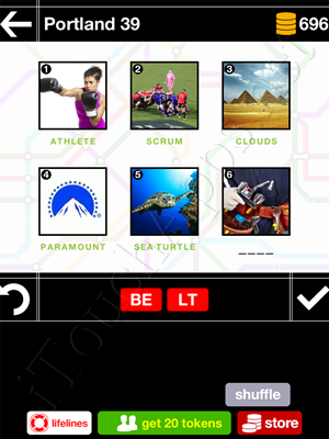 Pics & Pieces Portland Pack Level 39 Answer
