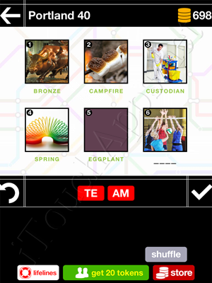Pics & Pieces Portland Pack Level 40 Answer