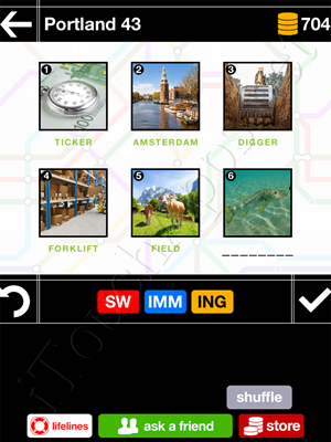 Pics & Pieces Portland Pack Level 43 Answer