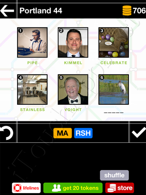 Pics & Pieces Portland Pack Level 44 Answer