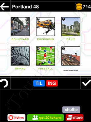 Pics & Pieces Portland Pack Level 48 Answer