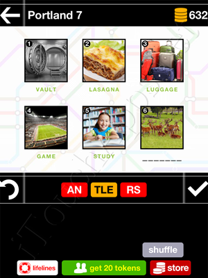 Pics & Pieces Portland Pack Level 7 Answer