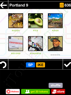 Pics & Pieces Portland Pack Level 9 Answer