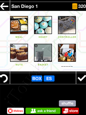 Pics & Pieces San Diego Pack Level 1 Answer