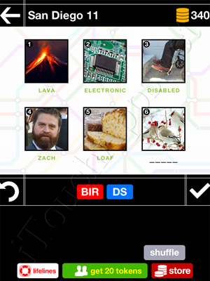 Pics & Pieces San Diego Pack Level 11 Answer