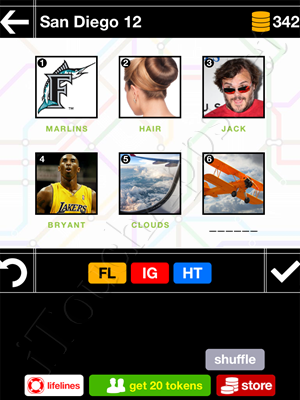 Pics & Pieces San Diego Pack Level 12 Answer