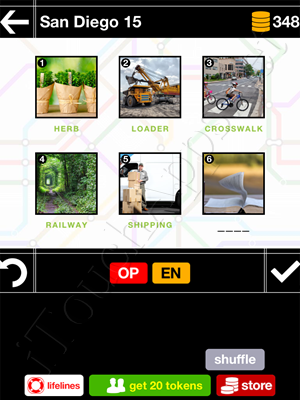 Pics & Pieces San Diego Pack Level 15 Answer