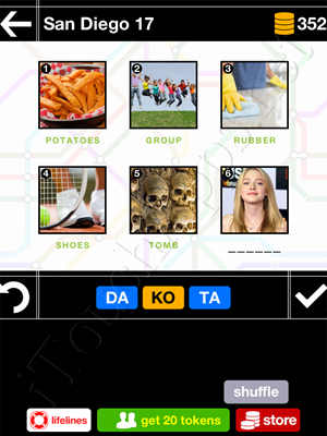 Pics & Pieces San Diego Pack Level 17 Answer