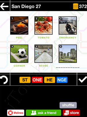 Pics & Pieces San Diego Pack Level 27 Answer
