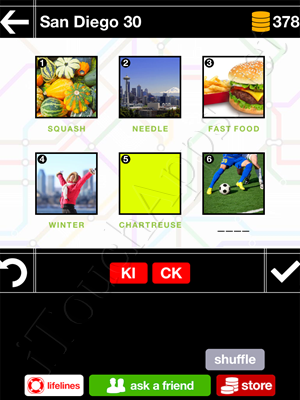 Pics & Pieces San Diego Pack Level 30 Answer