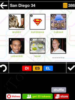 Pics & Pieces San Diego Pack Level 34 Answer