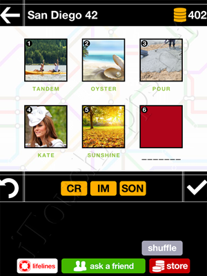 Pics & Pieces San Diego Pack Level 42 Answer