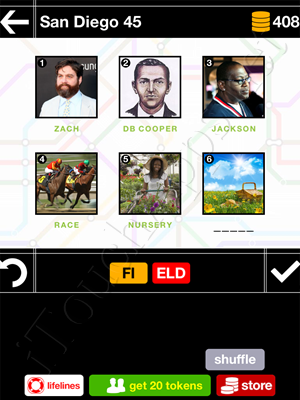 Pics & Pieces San Diego Pack Level 45 Answer