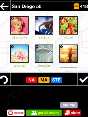 Pics & Pieces San Diego Pack Level 50 Answer