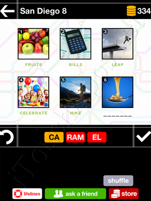 Pics & Pieces San Diego Pack Level 8 Answer