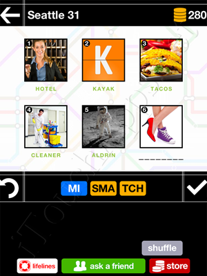 Pics & Pieces Seattle Pack Level 31 Answer