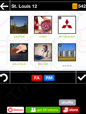 Pics & Pieces St Louis Pack Level 12 Answer