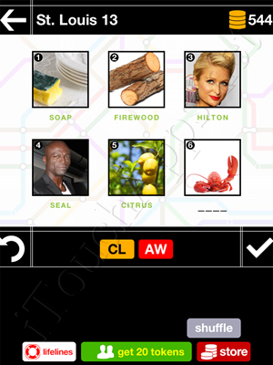 Pics & Pieces St Louis Pack Level 13 Answer