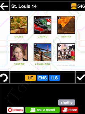 Pics & Pieces St Louis Pack Level 14 Answer