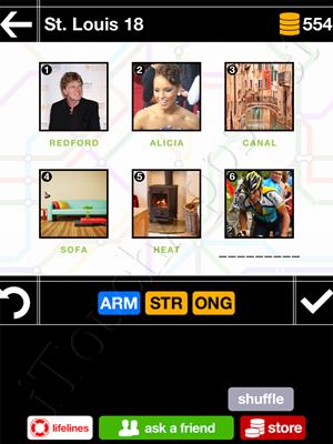 Pics & Pieces St Louis Pack Level 18 Answer