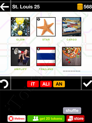 Pics & Pieces St Louis Pack Level 25 Answer