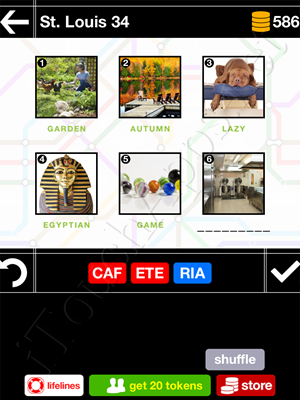 Pics & Pieces St Louis Pack Level 34 Answer