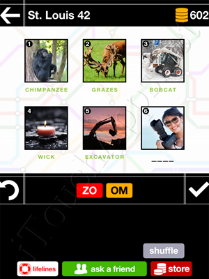 Pics & Pieces St Louis Pack Level 42 Answer