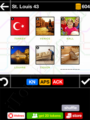Pics & Pieces St Louis Pack Level 43 Answer