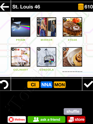 Pics & Pieces St Louis Pack Level 46 Answer