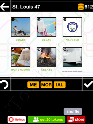Pics & Pieces St Louis Pack Level 47 Answer