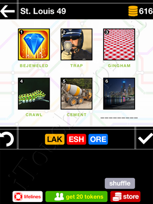 Pics & Pieces St Louis Pack Level 49 Answer