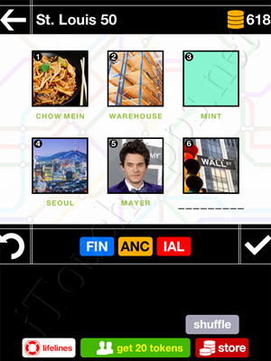 Pics & Pieces St Louis Pack Level 50 Answer