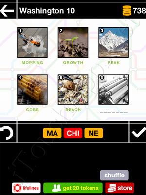 Pics & Pieces Washington Pack Level 10 Answer