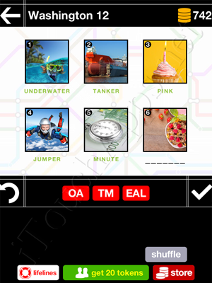 Pics & Pieces Washington Pack Level 12 Answer