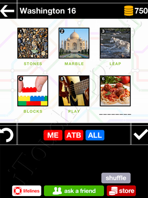 Pics & Pieces Washington Pack Level 16 Answer