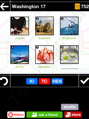 Pics & Pieces Washington Pack Level 17 Answer