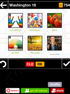Pics & Pieces Washington Pack Level 18 Answer