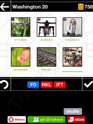 Pics & Pieces Washington Pack Level 20 Answer