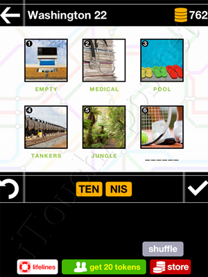 Pics & Pieces Washington Pack Level 22 Answer