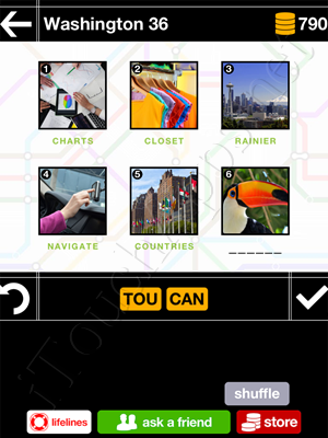 Pics & Pieces Washington Pack Level 36 Answer