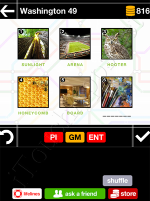 Pics & Pieces Washington Pack Level 49 Answer