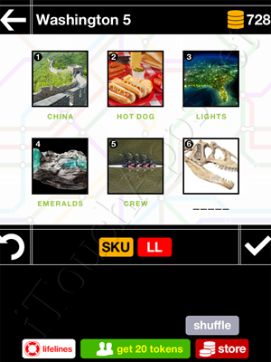 Pics & Pieces Washington Pack Level 5 Answer