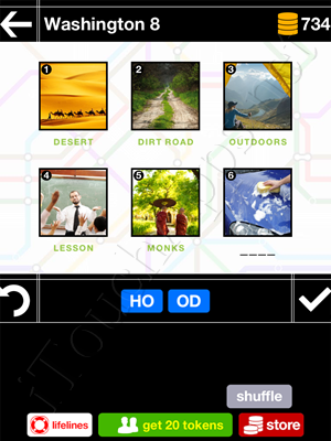 Pics & Pieces Washington Pack Level 8 Answer