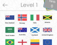 Flags Quiz Answers: Level 1 Part 2